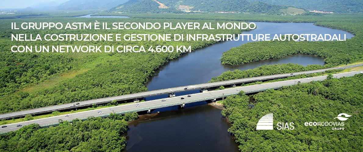 Il Gruppo ASTM è il secondo player al mondo nella costruzione e gestione di infrastrutture autostradali con un network di circa 4.600 km