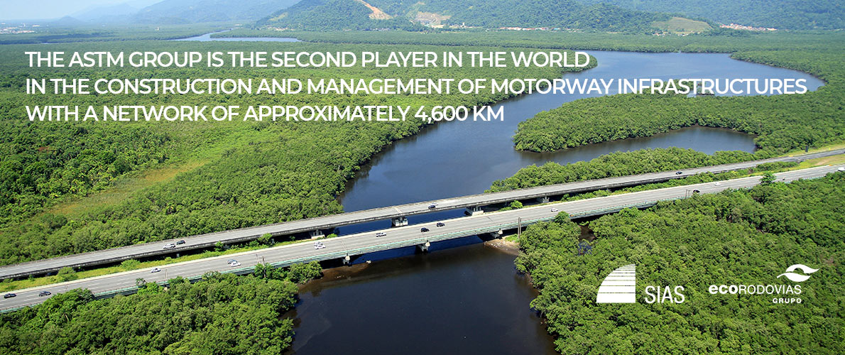 The ASTM Group is the second player in the world in the construction and management of motorway infrastructures with a network of approximately 4,600 km